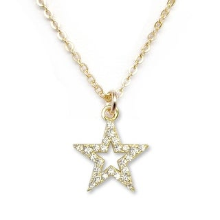 "Julieta Jewelry CZ Star Gold Charm 16"" Necklace"