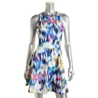 Townsen Womens Matt Jersey Fit & Flare Party Dress