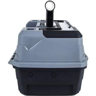 "Artbin Lift Tray Box W/1 Tray & Quick Access Lid Storage-7.875""X13""X6.5"" Black & Gray"