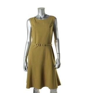 Nine West Womens Belted Sleeveless Wear to Work Dress - 8
