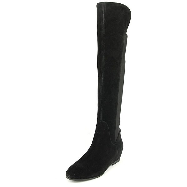 Nine West Tiberia Women Round Toe Suede Black Knee High Boot