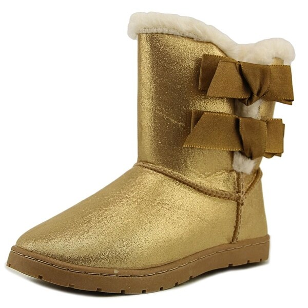 Rampage Girls Beatrix Youth  Round Toe Synthetic Gold Winter Boot