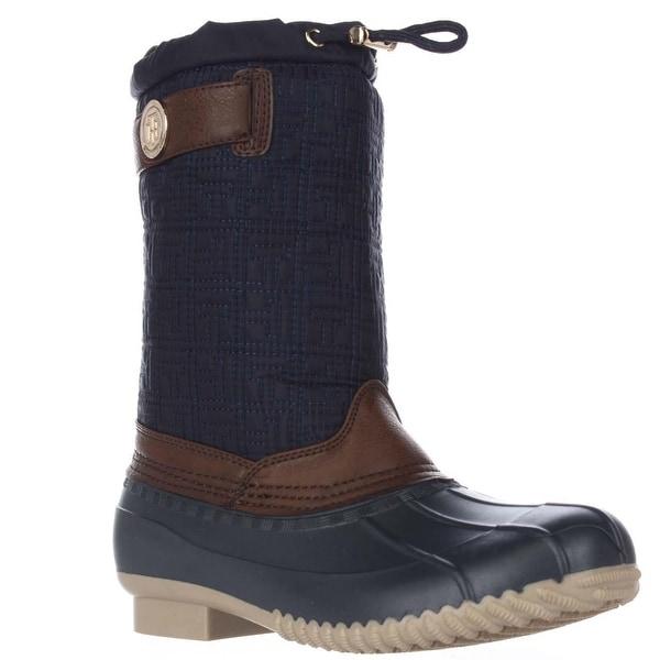 Tommy Hilfiger Romea Mid-Calf Rain Boots, Medium Blue