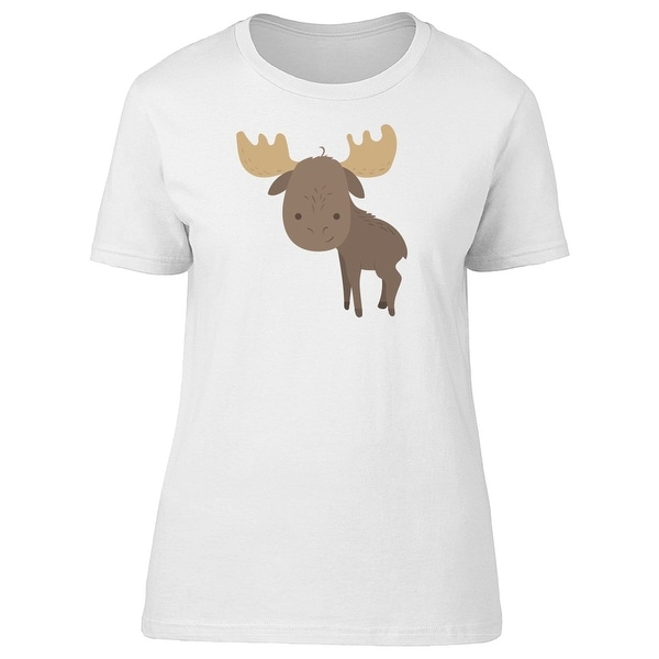 b7860ebcd7 Shop Funny Cartoon Moose Tee Women's -Image by Shutterstock - Free Shipping  On Orders Over $45 - Overstock - 22254789
