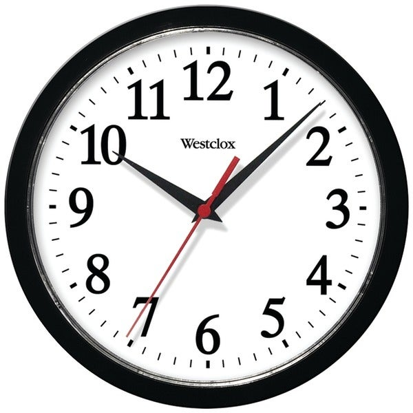 Shop Westclox 461861 10 Basic Wall Clock Black