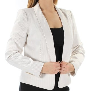 Tommy Hilfiger NEW Beige Womens Size 8 Pinstriped Single Button Blazer