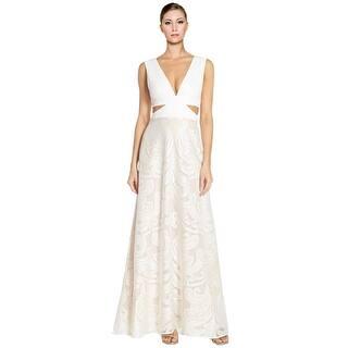 Bcbgmaxazria dresses for less overstock bcbg maxazria marilyne cutout satin lace evening gown dress 10 junglespirit Choice Image