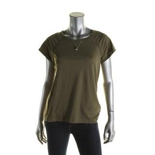 Scotch & Soda Womens Petites T-Shirt Cotton Contrast Trim - p