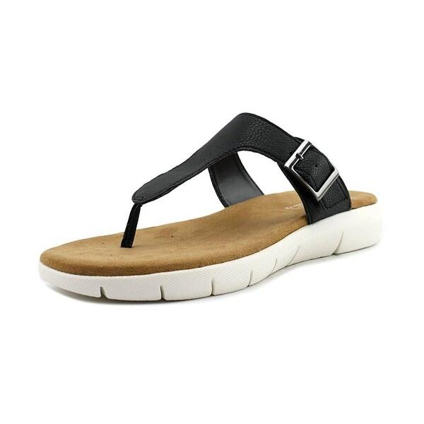 Aerosoles Cargo Wip Women Open Toe Leather Black Thong Sandal