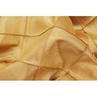 """Pintuck Table Runner Approx. 13""""x108"""" Material: Pintuck Taffeta (3"""" pattern) - Gold, 1 Piece"""