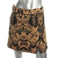 Free People Womens Knit Skirt Metallic Pattern - 4