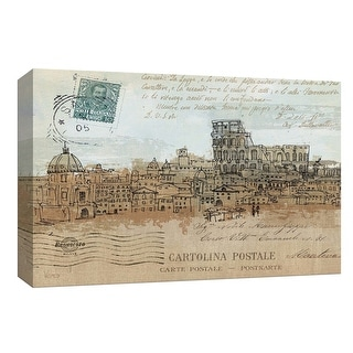 """PTM Images 9-153965  PTM Canvas Collection 8"""" x 10"""" - """"Cities IV - Rome"""" Giclee Rome Art Print on Canvas"""