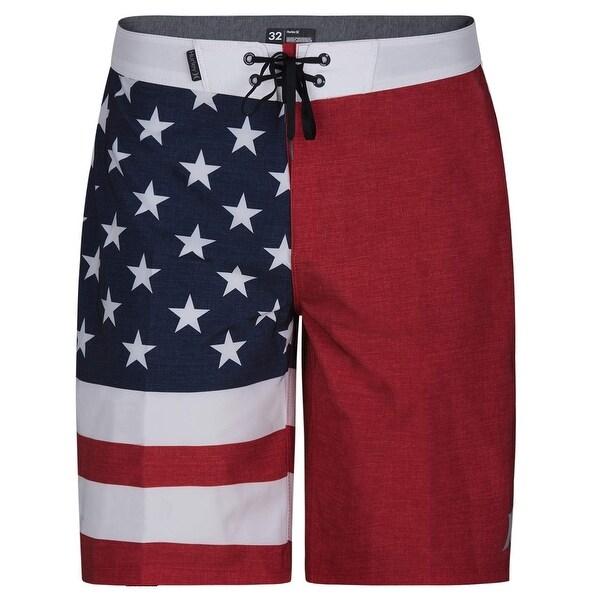 90e2e2b3cc Shop Hurley Red Men 32 Board Surf Phantom Patriot Cheers USA Flag ...