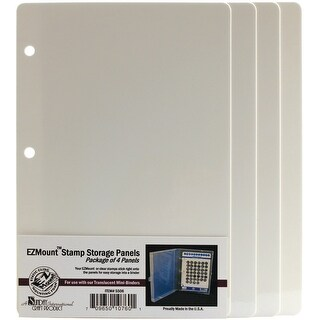 "EZMount Stamp Storage Panels 4/Pkg-5.75""X8.5"""