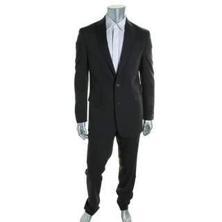 Kenneth Cole Reaction Mens Two-Button Suit 2PC Pinstripe - 36r