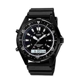 Men's Casio Analog-Digital Dive Style Stainless Steel Watch