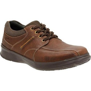 Clarks Men's Cotrell Walk Bicycle Toe Shoe Tobacco Leather