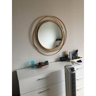 """Carson Carrington Lacksta Round Wall Mirror - 32""""H x 32""""W x 1.5""""D (Mirror only: 21""""H x 21""""W)"""