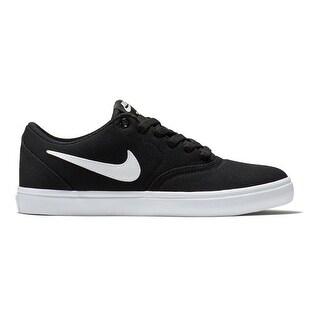 New Nike Women's SB Check Solar Canvas Skateboarding Shoe Black/White