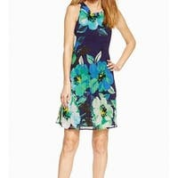 Jessica Howard Womens Pleated Floral Sheath Dress