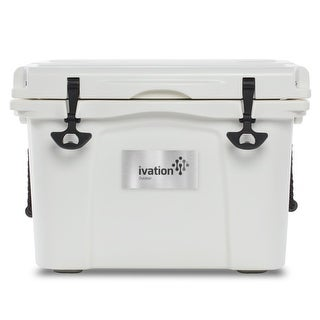 Ivation Heavy Duty Roto-Molded Cooler - High Performance Ice Chest w/Commercial Grade Insulation