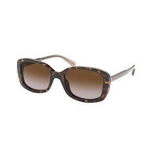 Link to Coach HC8278 512013 53 Dark Tortoise Woman Rectangle Sunglasses Similar Items in Women's Sunglasses