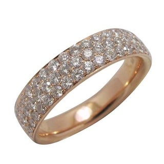 Prism Jewel 0.90Ct Round G-H/SI1 Natural Diamond Wedding Band - White G-H