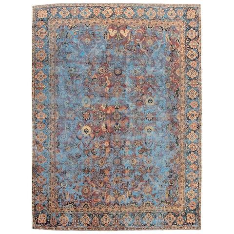 ECARPETGALLERY Hand-knotted Antalya Vintage Blue Wool Rug - 10'0 x 13'6