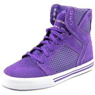 Supra Kids Skytop Round Toe Leather Sneakers