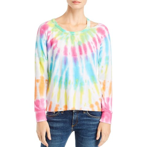 Chaser Womens Top Tie-Dye Cut Out
