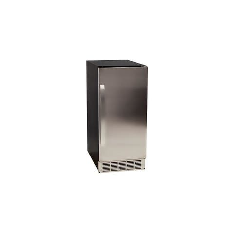 "EdgeStar IB450P 15"" Wide 25 Lbs. Capacity Built-In Ice Maker with 50 - Stainless Steel"