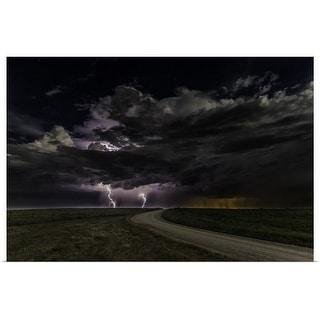 """""""Prairie Lightning"""" Poster Print"""
