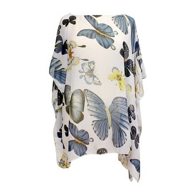 Womens Butterfly Summer Poncho Tunic Cover Up
