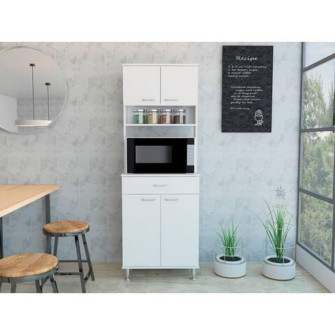 """TUHOME Della 66"""" Kitchen Pantry"""