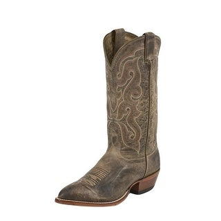 """Nocona Western Boots Mens Leather Vintage 13"""" Round Toe Tan MD2701"""