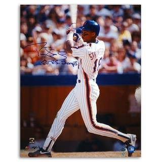 "Autographed Darryl Strawberry New York Mets 16x20 Photo Inscribed ""86 WS Champs"""