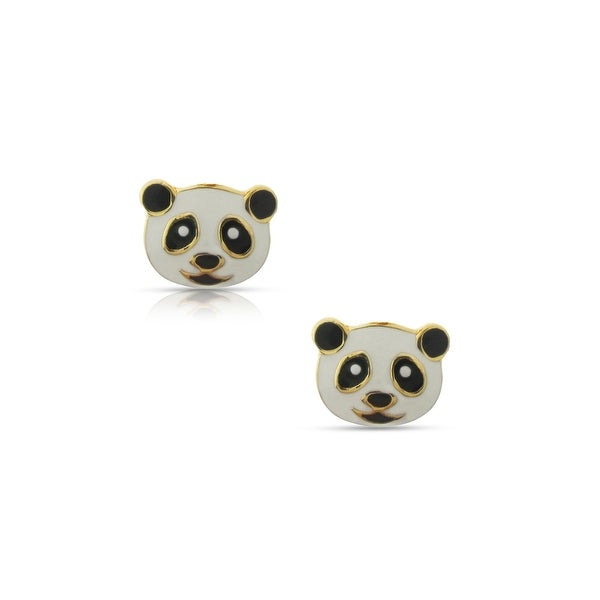 Lily Nily Girl's Panda Bear Stud Earrings - White