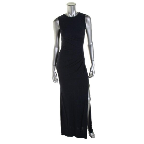 ABS by Allen Schwartz Womens Evening Dress Gathered Mesh Inset