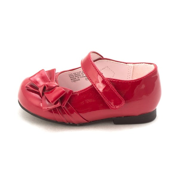 Nina Baby Maxie Buckle Ballet Flats , Red Patent, Size 5 M Baby Girl