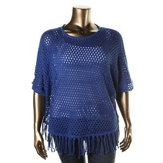 NY Collection Womens Plus Knit Dolman Sleeves Sweater - 1X