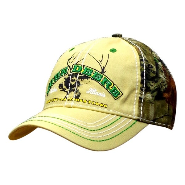 Shop John Deere Western Hat Mens Buck Twill Embroidery Os Mossy