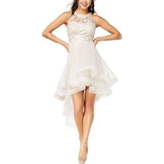 TLC Say Yes To The Prom Womens Juniors Shine Semi-Formal Dress Tulle Tiered - 9