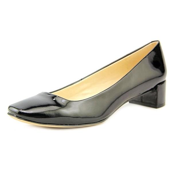 Nine West Olencia Women W Round Toe Synthetic Black Heels