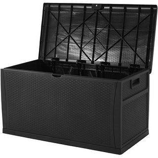 Link to SUNCROWN 120 Gallon Deck Box Outdoor Resin Wicker Storage Container Similar Items in Storage & Organization