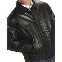 Roper Western Jacket Mens Nappa Bomber Zip Black