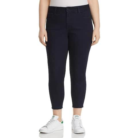 NYDJ Womens Plus Skinny Jeans Stretch Released Hem