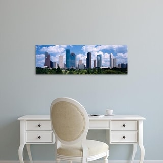 Easy Art Prints Panoramic Images's 'Skyscrapers in a city, Houston, Texas, USA' Premium Canvas Art