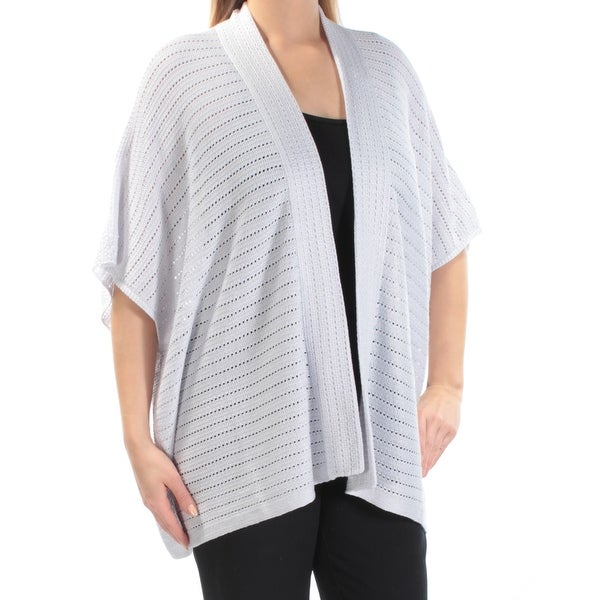 RALPH LAUREN Womens Silver Kimono Sleeve Open Cardigan Top Size S