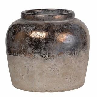 Unique Candia Ceramic Vase, Beige