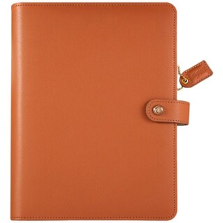 """Color Crush A5 Faux Leather 6-Ring Planner Binder 7.5""""X10""""-Sedona"""
